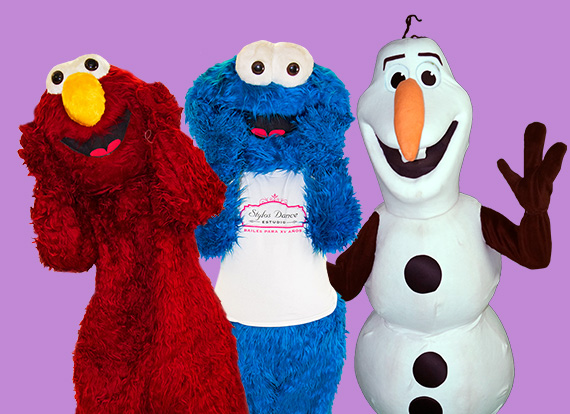 Stylos Party Characters - Mr. Red, Mr. Blue, Snowman